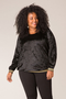 Grote maten Shirt Ivy Bella velours sportbies | 31646P01146(0)