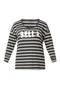 Shirt Ivy Bella streep zilveren tekst