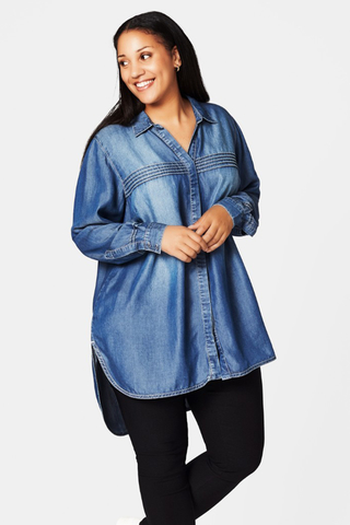 Blouse Zizzi JOTLILIA Tencel denim