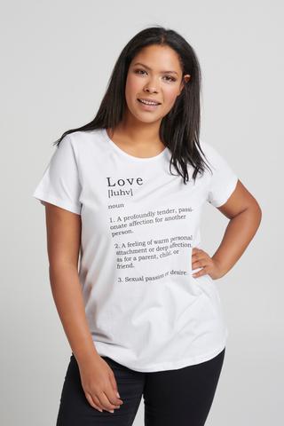 Shirt Zizzi MAY love tekst