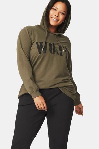 Sweater Zizzi ARMY tekst voor