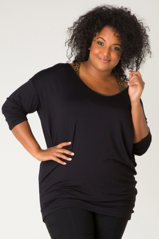 Grote maten Shirt Ivy Bella v-hals | 32088PYell46(0)