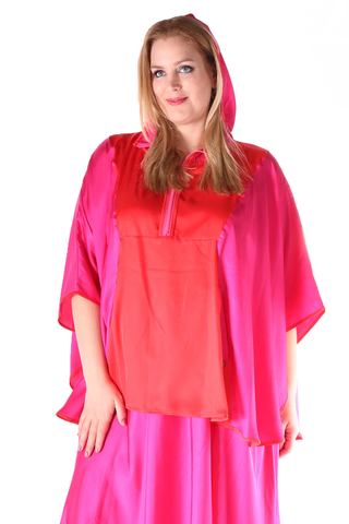 Grote maten Tuniek Mat fashion lang achterpand | 7111041RED/FUCHOne Size