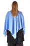 Grote maten Tuniek Mat fashion poncho look | 7111104SERE/BLUEOne Size
