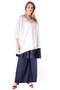 Grote maten Blouse Mat fashion vlecht koord hals | 7111126WHITOne Size