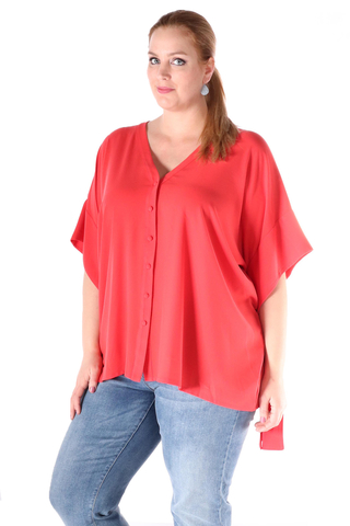 Blouse Mat fashion strik mouw