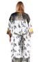 Grote maten Jasje Mat fashion kimono stijl | 7114011OFFW/YELOM=48-50