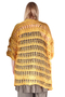 Grote maten Vest Mat fashion open brei | 7115037GREEL/XL=50-54