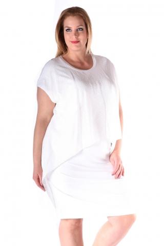 Grote maten Jurk Mat fashion extra gaas pas | 7117098WHITL=52-54