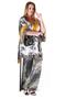 Grote maten Tuniek Mat fashion kimono look | 7117121KHAKS=44-46