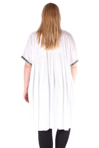Grote maten Tuniek Mat fashion borduur pas | 7117137WHITS/M=44-48