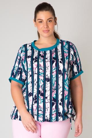 Shirt Yesta Juno streep bloem 78cm | A31138PG4X-0