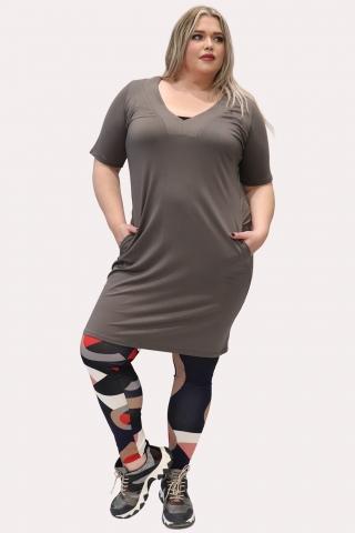 Grote maten Legging Ophilia Retro print | Legging S9 PrintRetr/Red1=42