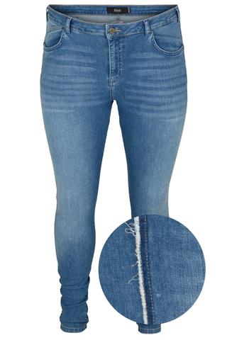 Jeans AMY Zizzi rafel rand zijnaad
