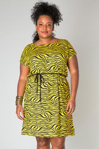 Grote maten Jurk zebra print Pixie Ivy Bella | 40085PE4352(3)