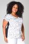 Grote maten Shirt ketting print Ivy Bella 75cm | 44058P98954/56(4)