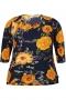Grote maten Blouse LISE Zhenzi bloem print | 2608366BLAC/0900L=50-52