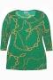 Grote maten Shirt GIBSON Zhenzi ketting print | 2607842BLAC/0900M=46-48