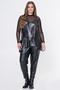 Grote maten Shirt Mat fashion voile mousse | 72011120BLACS=44-46