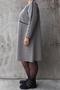 Jurk Mat fashion print met glans