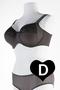 Grote maten Disismi Dot Petite Beugel BH Milaan   B79551BrGo/G80