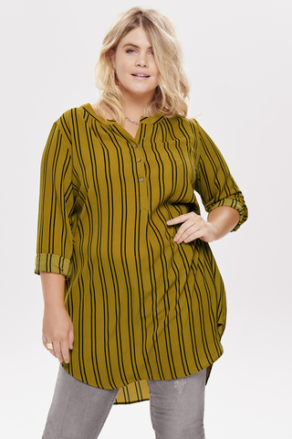 Grote maten Blouse LUX ANNA ONLY Carmakoma | 15189155aGold/Blac46
