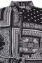 Grote maten Blouse NABU Zhenzi zakdoek print   2712654BLAC/0900M=46-48