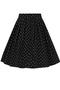 Grote maten Rok Allie Hell Bunny stip print | 50026zwar/wit2XL=44-48