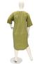 Grote maten Jurk Mat fashion poplin tricot   73017156LIMES=44-46