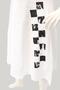 Grote maten Jurk Rimini blok print linnen combi   2S80801wit5=50