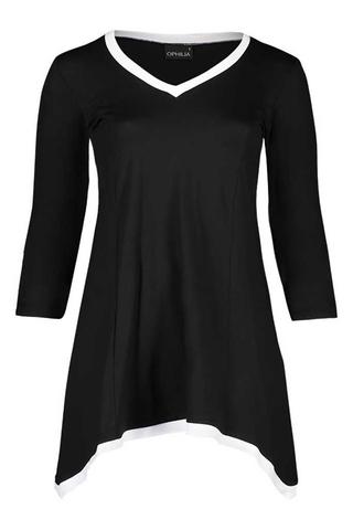 Grote maten Shirt Puck combi Uni Ophilia | Puck 20 uni10012=44