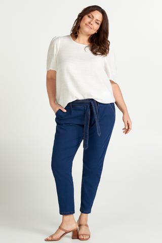 Grote maten Jeans Zizzi met wikkelceintuur | J10593A105050