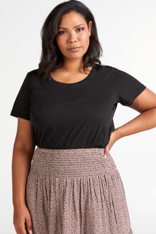 Grote maten Shirt AMANDA Zizzi ronde hals | M57803B0199S