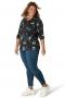 Grote maten Shirt Yesta 77 cm print V hals   A0003512910X-0(44)