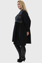 Grote maten Tuniek Mat combi leatherlook tricot   74017054blacL=52-54