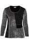 Shirt Chalou combi stofjes velvet | CH8397Grey46