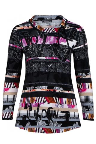Shirt Sempre Piu strikje hals | S8614lilc52