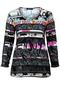 Grote maten Shirt Sempre Piu print V hals | S8616lilc46