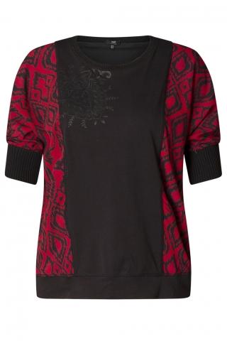 Grote maten Shirt yesta zwart vlak voor | A00008169312(50)