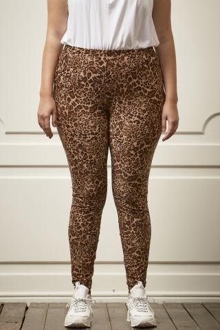 Grote maten Legging Aya Zhenzi lang print | 2508975Blac/0900S=42-44