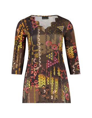 Grote maten Shirt Mona dessin Ophilia | Mona 20W desmoza/brow3=46