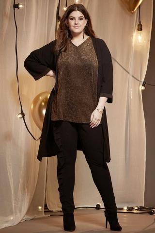 Grote maten Shirt Modezza Zhenzi glitter | 26107726950S=42-44