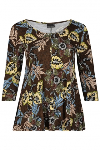 Shirt Rachel B print Ophilia | Rachel B 20Wgree/leav2=44