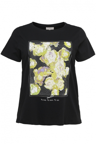 Shirt MARE ONLY Carmakoma opdruk | 15215504BlacS-42/44
