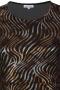 Grote maten Jurk Fado Zhenzi glitter strepen | 2810117copp/0904M=46-48