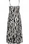 Jurk Gozzip Maxi zebra print | G203058Blac/offwM=46/48