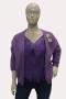 Vest BoeBou losvallend soft knit   5005-1aqua1 maat