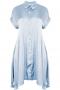 Tuniek Mat blouse look wijd satijn | 75017056khakL=52-54