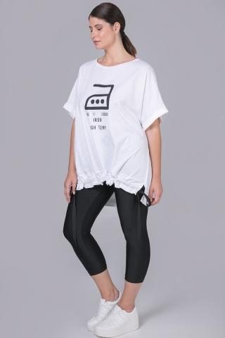 Shirt Mat opdruk voor koord zoom | 75011088whitS/M=44-48