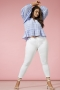 Jeans WILLY ONLY Carmakoma wit   15176825whit/deni42